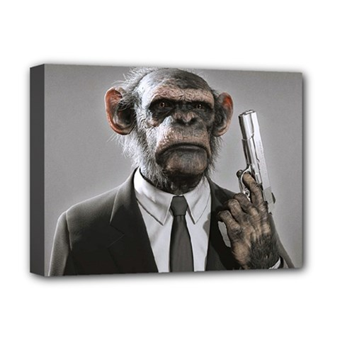 Monkey Business Deluxe Canvas 16  X 12  (framed)