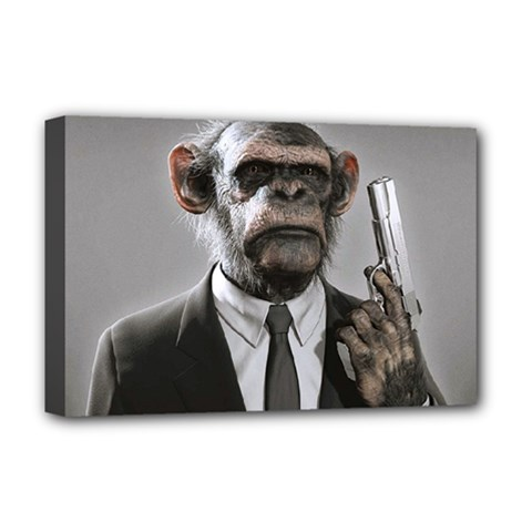 Monkey Business Deluxe Canvas 18  x 12  (Framed)