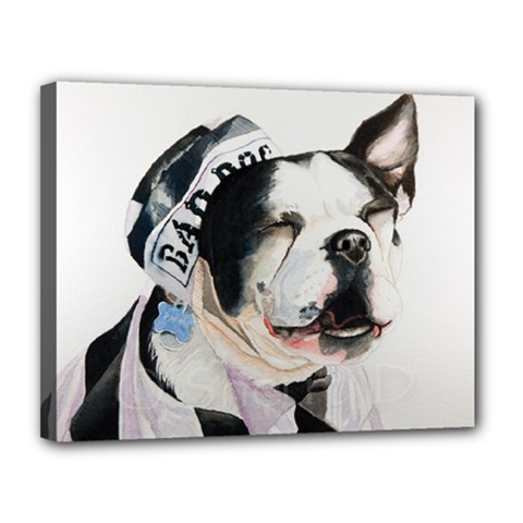 Bad Dog Canvas 14  X 11  (framed)
