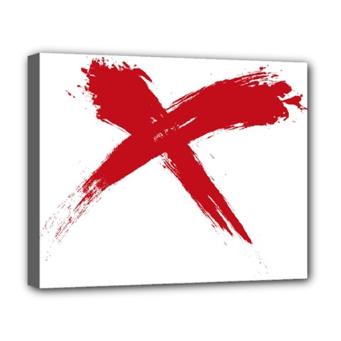 Red X Deluxe Canvas 20  X 16  (framed)