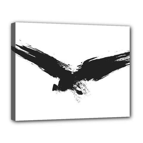 Grunge Bird Canvas 14  x 11  (Framed)