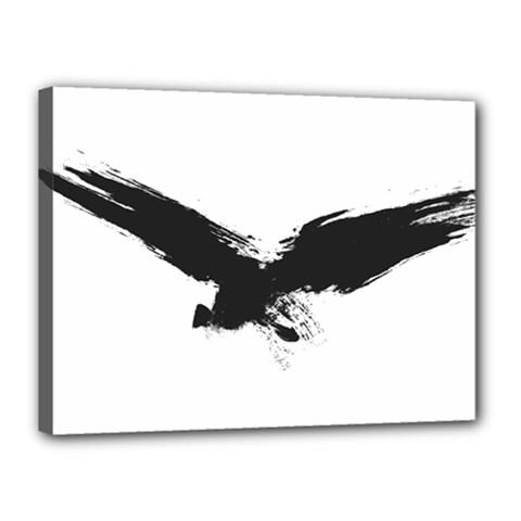 Grunge Bird Canvas 16  x 12  (Framed)