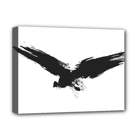Grunge Bird Deluxe Canvas 16  X 12  (framed)