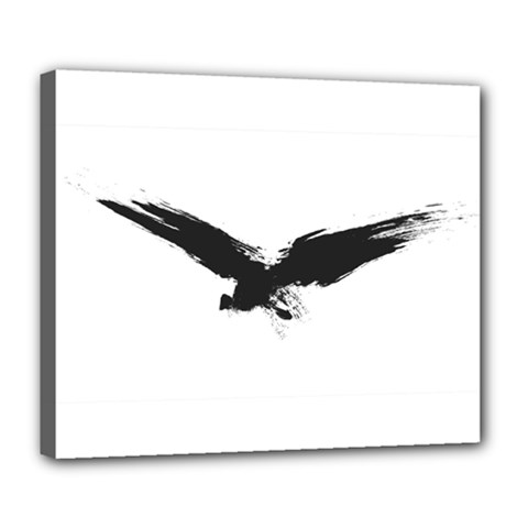 Grunge Bird Deluxe Canvas 24  x 20  (Framed)