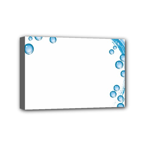 Water Swirl Mini Canvas 6  X 4  (framed)