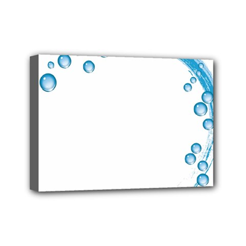 Water Swirl Mini Canvas 7  x 5  (Framed)
