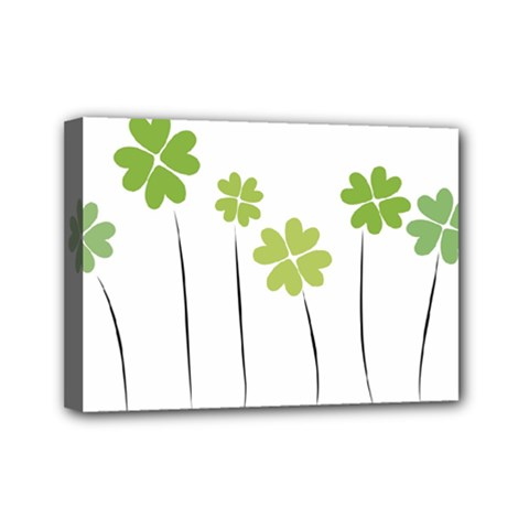 Clover Mini Canvas 7  X 5  (framed)
