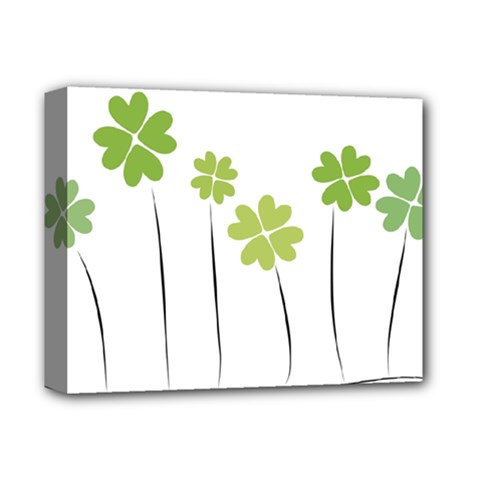 clover Deluxe Canvas 14  x 11  (Framed)
