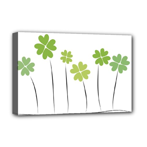 Clover Deluxe Canvas 18  X 12  (framed)