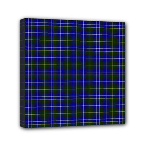 Macneil Tartan   1 Mini Canvas 6  X 6  (framed)