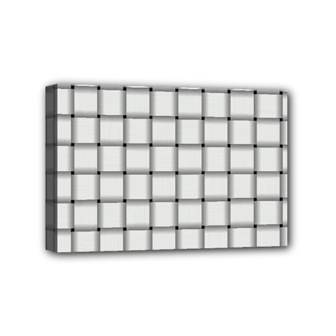 White Weave Mini Canvas 6  x 4  (Framed)