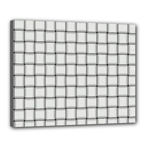 White Weave Canvas 20  x 16  (Framed)