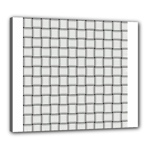 White Weave Canvas 24  x 20  (Framed)