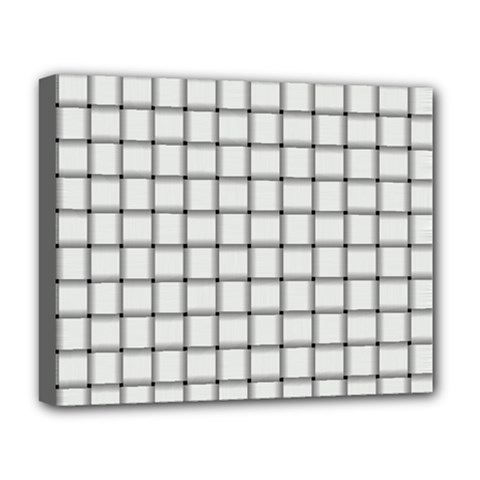 White Weave Deluxe Canvas 20  x 16  (Framed)