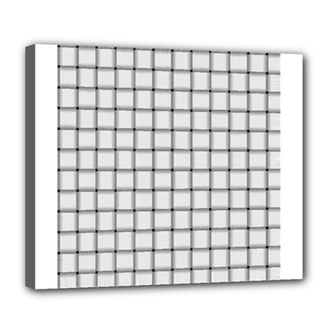 White Weave Deluxe Canvas 24  x 20  (Framed)