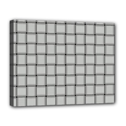 Gray Weave Canvas 14  X 11  (framed)