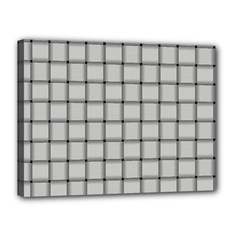 Gray Weave Canvas 16  X 12  (framed)
