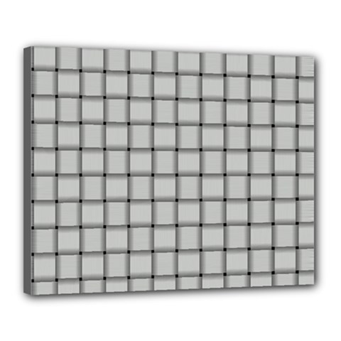 Gray Weave Canvas 20  x 16  (Framed)