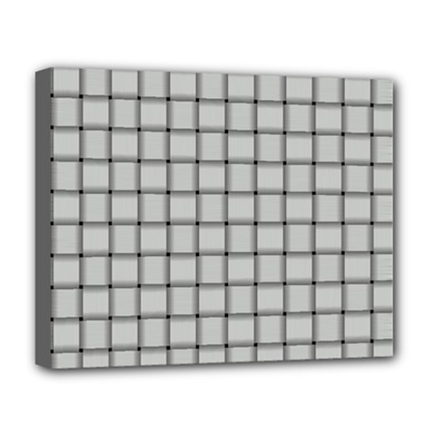 Gray Weave Deluxe Canvas 20  X 16  (framed)