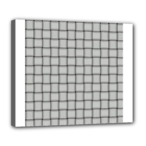 Gray Weave Deluxe Canvas 24  x 20  (Framed)