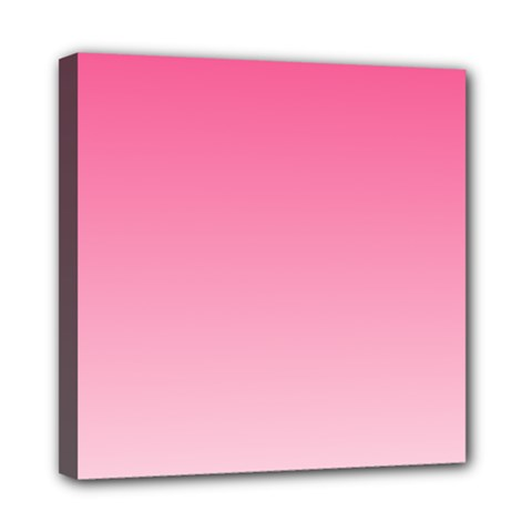 French Rose To Piggy Pink Gradient Mini Canvas 8  X 8  (framed)