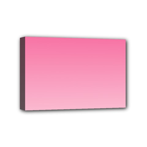 French Rose To Piggy Pink Gradient Mini Canvas 6  x 4  (Framed)