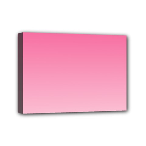 French Rose To Piggy Pink Gradient Mini Canvas 7  X 5  (framed)
