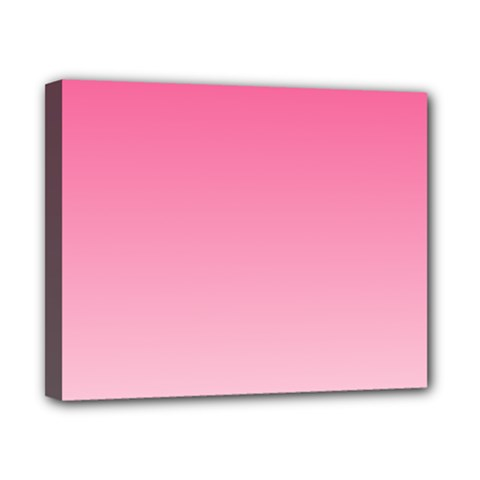 French Rose To Piggy Pink Gradient Canvas 10  X 8  (framed)