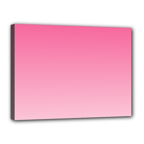French Rose To Piggy Pink Gradient Canvas 16  X 12  (framed)