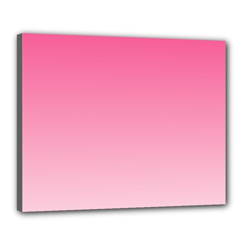 French Rose To Piggy Pink Gradient Canvas 20  x 16  (Framed)