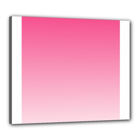 French Rose To Piggy Pink Gradient Canvas 24  x 20  (Framed)