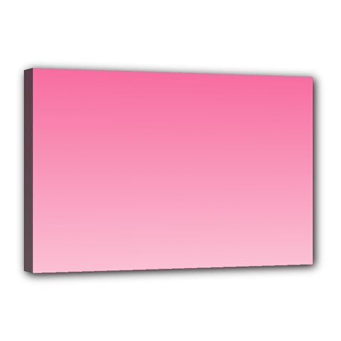French Rose To Piggy Pink Gradient Canvas 18  X 12  (framed)