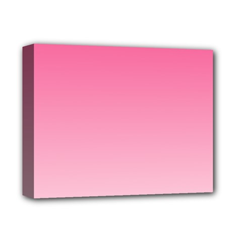 French Rose To Piggy Pink Gradient Deluxe Canvas 14  x 11  (Framed)