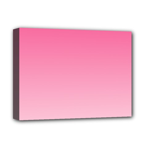 French Rose To Piggy Pink Gradient Deluxe Canvas 16  x 12  (Framed)