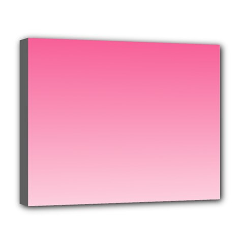 French Rose To Piggy Pink Gradient Deluxe Canvas 20  X 16  (framed)