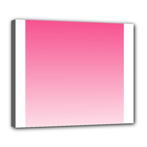 French Rose To Piggy Pink Gradient Deluxe Canvas 24  x 20  (Framed)
