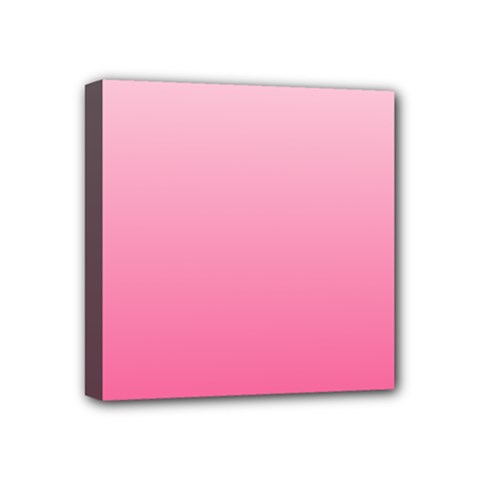 Piggy Pink To French Rose Gradient Mini Canvas 4  x 4  (Framed)