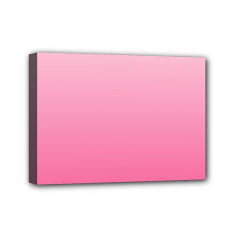 Piggy Pink To French Rose Gradient Mini Canvas 7  x 5  (Framed)