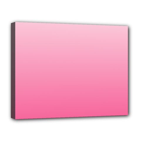 Piggy Pink To French Rose Gradient Canvas 14  x 11  (Framed)