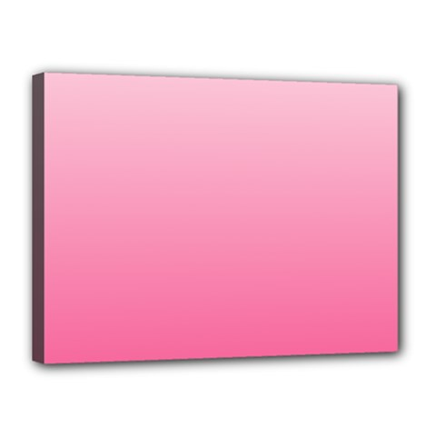 Piggy Pink To French Rose Gradient Canvas 16  x 12  (Framed)
