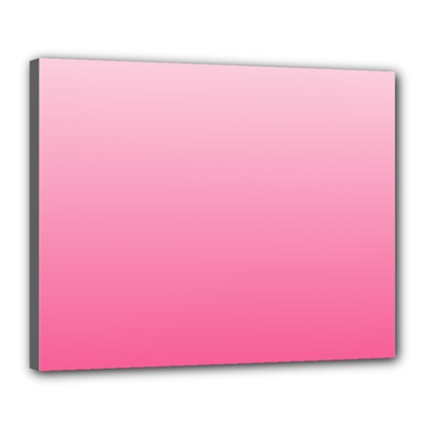 Piggy Pink To French Rose Gradient Canvas 20  x 16  (Framed)