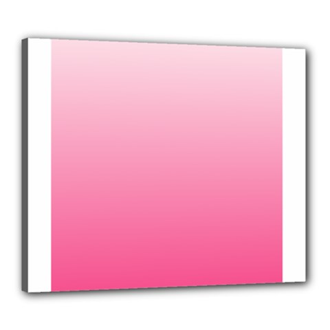 Piggy Pink To French Rose Gradient Canvas 24  x 20  (Framed)