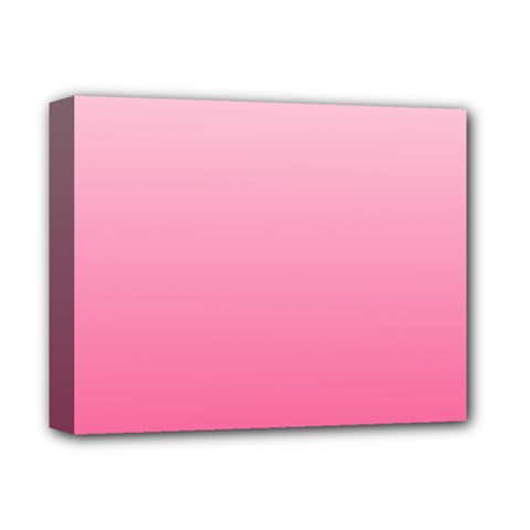 Piggy Pink To French Rose Gradient Deluxe Canvas 14  x 11  (Framed)