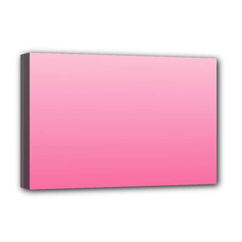 Piggy Pink To French Rose Gradient Deluxe Canvas 18  X 12  (framed)