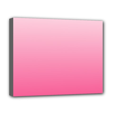 Piggy Pink To French Rose Gradient Deluxe Canvas 20  x 16  (Framed)
