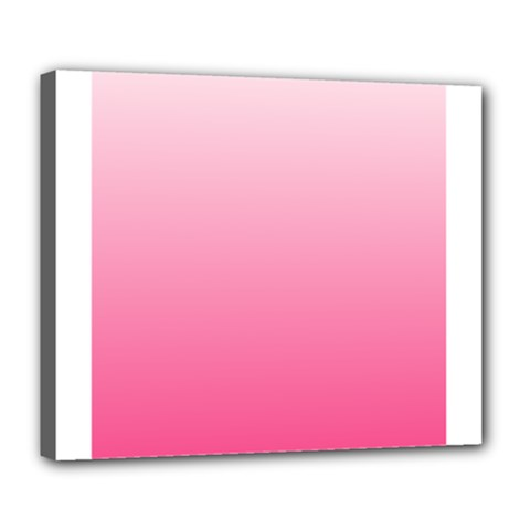 Piggy Pink To French Rose Gradient Deluxe Canvas 24  x 20  (Framed)