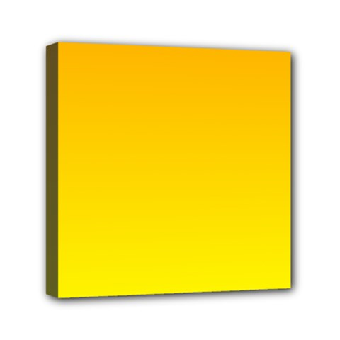 Chrome Yellow To Yellow Gradient Mini Canvas 6  x 6  (Framed)