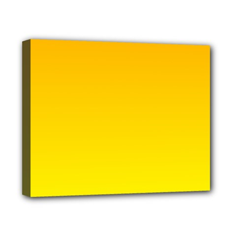 Chrome Yellow To Yellow Gradient Canvas 10  x 8  (Framed)