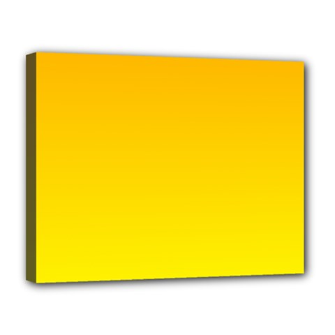 Chrome Yellow To Yellow Gradient Canvas 14  x 11  (Framed)