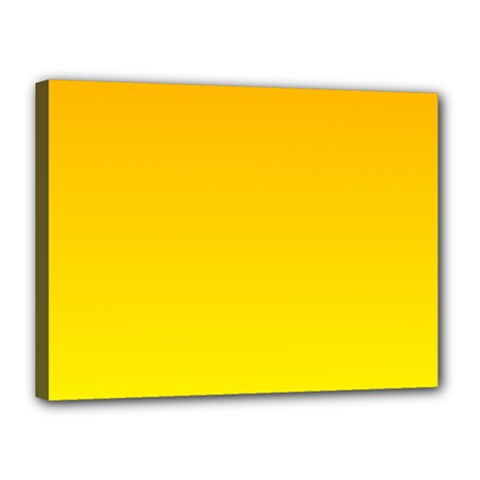 Chrome Yellow To Yellow Gradient Canvas 16  x 12  (Framed)